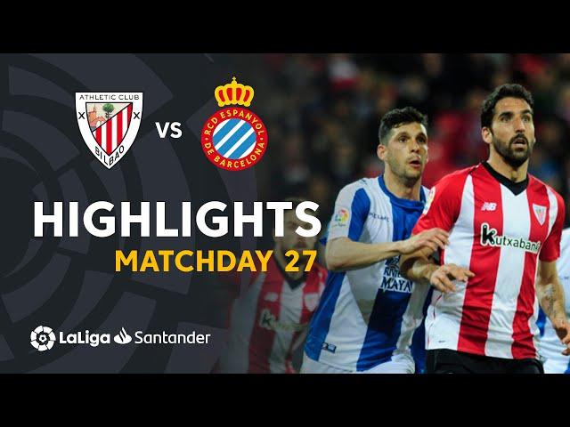 Highlights Athletic Club vs RCD Espanyol (1-1)