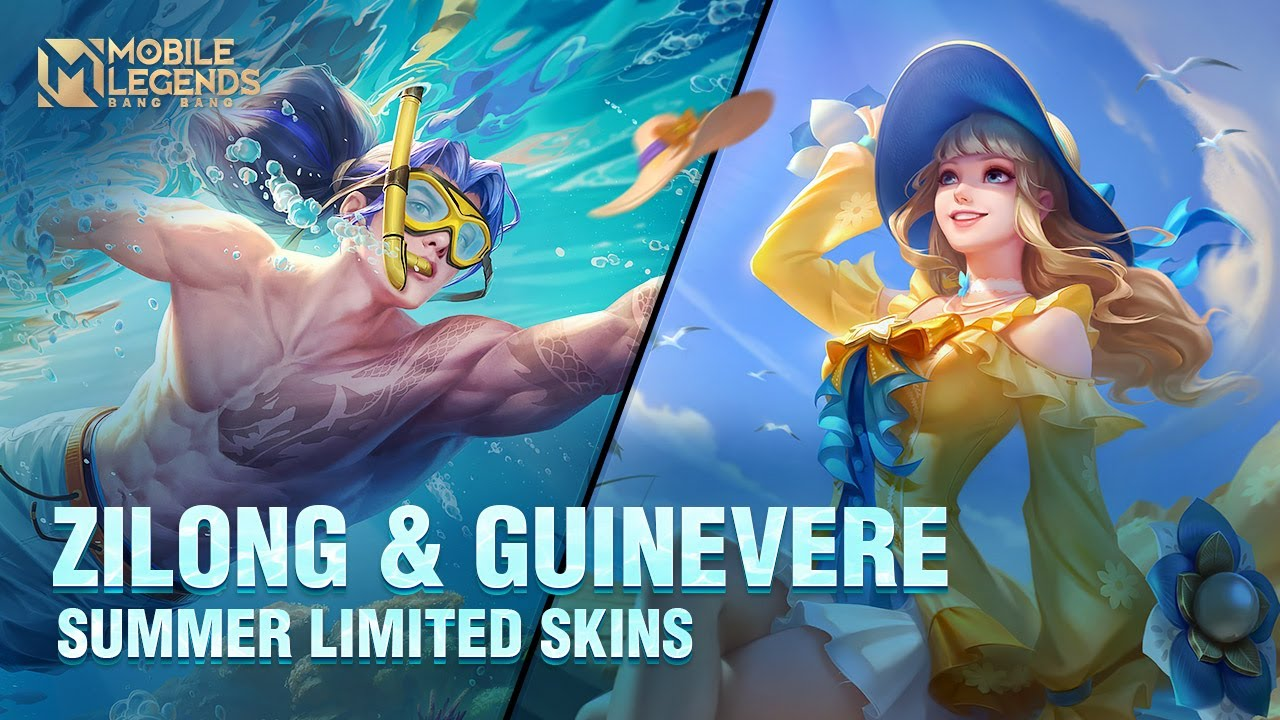 Guinevere & Zilong Summer Limited Skins   Summer Waves & Summer Breeze   Mobile Legends: Bang Bang