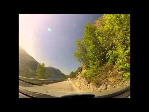 Trip across Rogaland in Norway