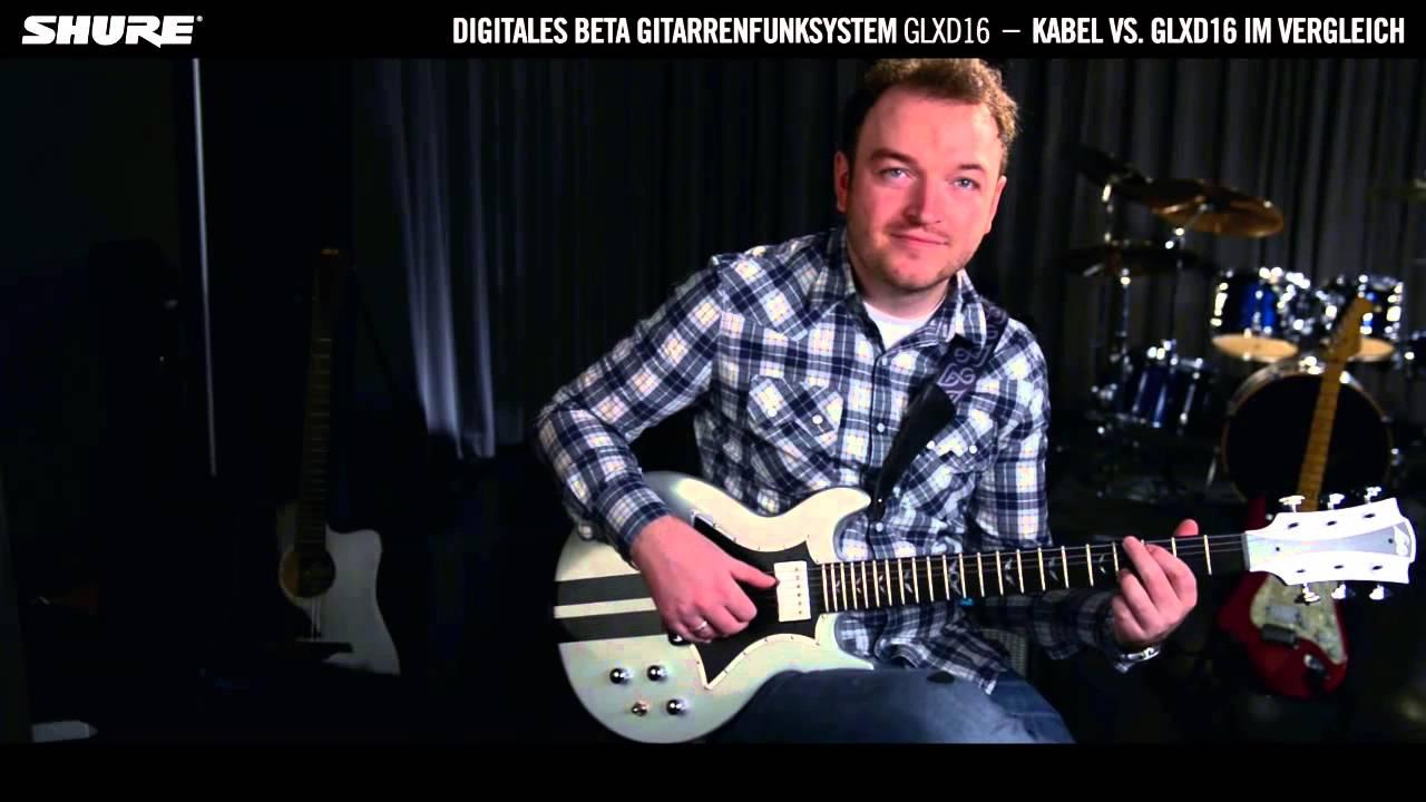 Shure GLXD16 digitales Beta Gitarren-Funksystem: Kabel vs. Funk ...