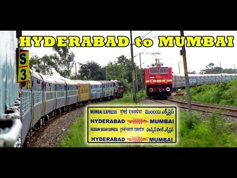 HYDERABAD To DADAR (MUMBAI) : Complete Journey In HUSSAIN SAGAR Express (Indian Railways)