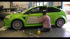 Montageanleitung von großen Aufklebern auf Fahrzeugen - Nassmontage -