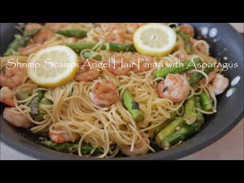 Shrimp Asparagus Zoodle Pasta