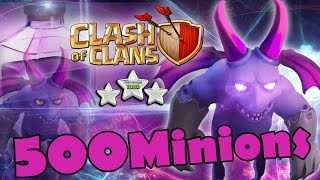 Clash Of Clans - NEW MINION LVL 7 x 500 MASS ATTACK!!! (New Updated)