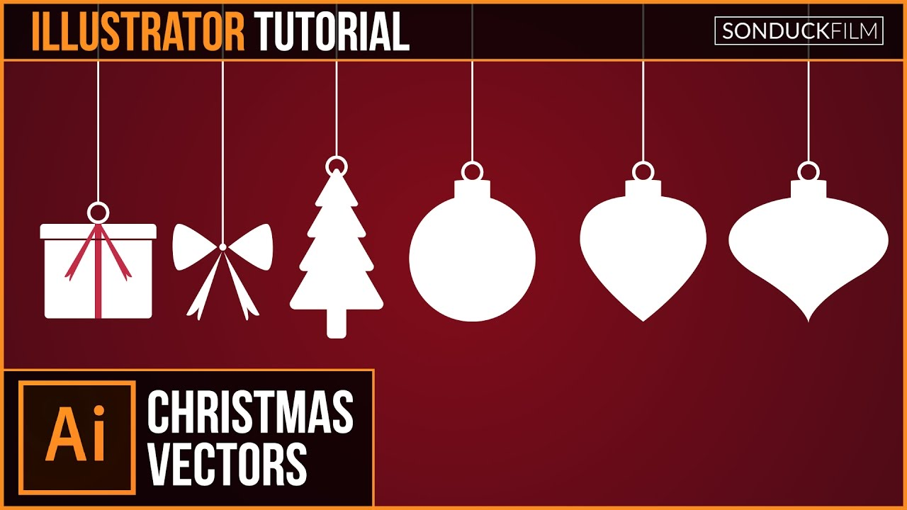 9e64fe5e4 Adobe Illustrator CC Tutorial  Flat CHRISTMAS VECTORS