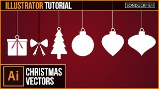 Adobe Illustrator CC Tutorial: Flat CHRISTMAS VECTORS | Graphic Design