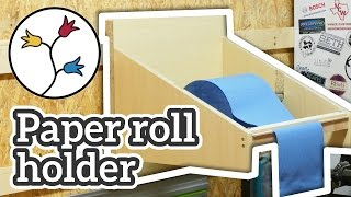 YOU can make this simple paper roll holder for the shop – Easy project, DIY
