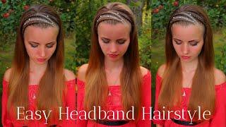 Easy Headband Hairstyle with 3 Dutch Braids | How to Braid Own Hair
