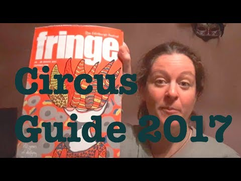 Finding Circus at Edinburgh Fringe 2017 || Programme walkthrough