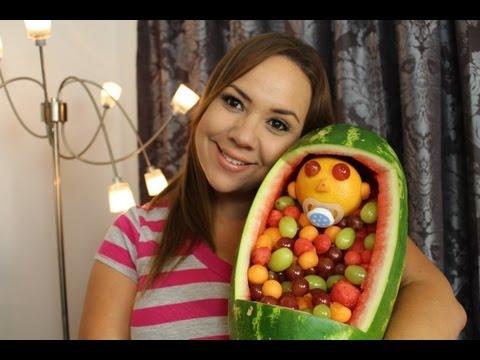 Decoraciones con Frutas para Baby Shower / Baby Shower Fruit Decoration