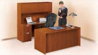 Bow Front L-desk | Nbf Contemporary Collection | National Business Furniture
