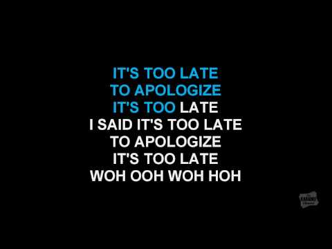 Apologize in the style of OneRepublic karaoke video with lyrics