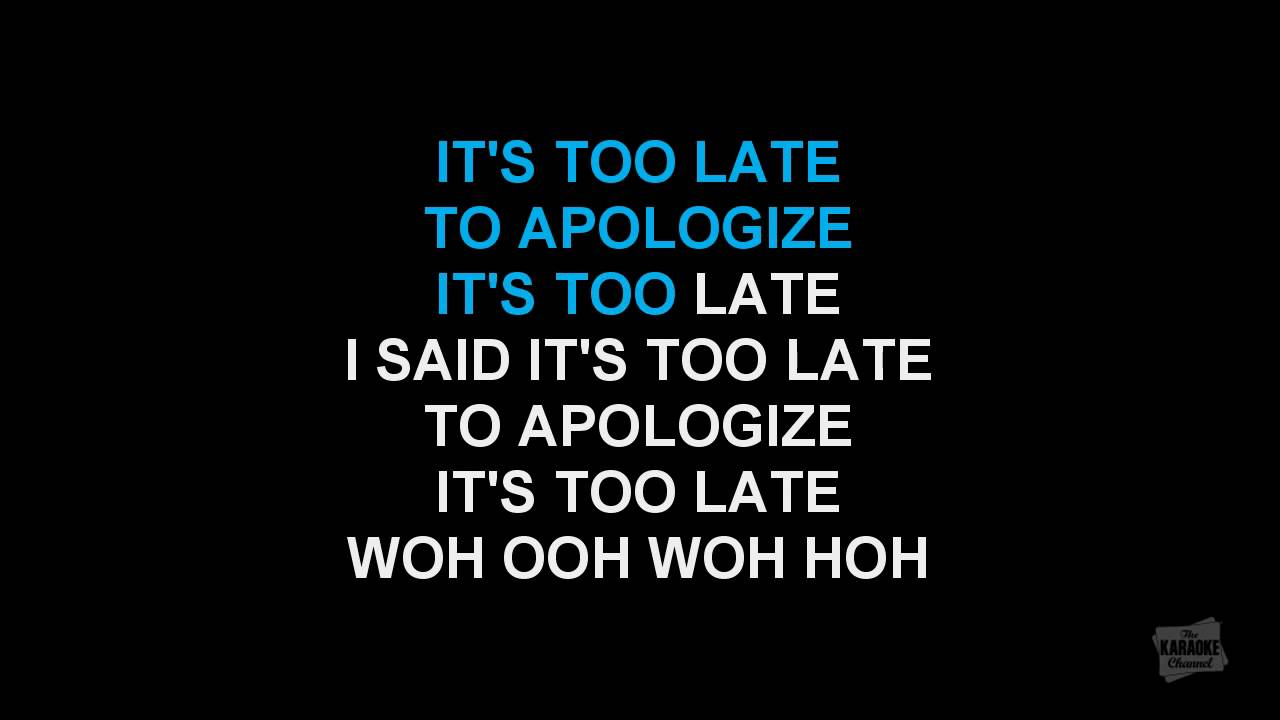 lirik lagu apologize onerepublic