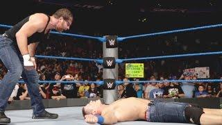 WWE John Cena, Dean Ambrose vs Aj styles & Miz SmackDown Live 13 september 2016