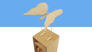Amazing DIY Cardboard Butterfly Automata Toy