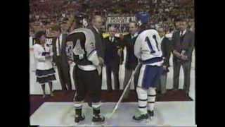 1989 Toronto Marlboros Last Game at Maple Leaf Gardens - Ceremony
