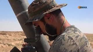 Война в Сирии. Курды ведут огонь по позициям ИГ