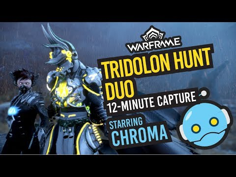 Warframe: 2-man Tridolon Hunt Chroma Guide (OUTDATED AMP 4/20/18)