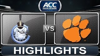 2013 ACC Football Highlights | The Citadel vs Clemson | ACCDigitalNetwork