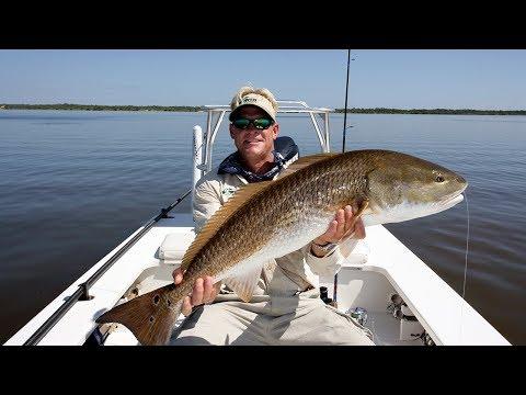 Buras Louisiana Fishing for Redfish with Cajun Fishing Adventures