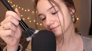ASMR Deep and Intense Microphone Sounds | Close up | Tongue clicking, brushing, scratching