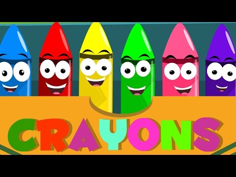Crayons Color Song | Learn Colors | Nursery Rhymes For Kids | Baby Songs For Childrens