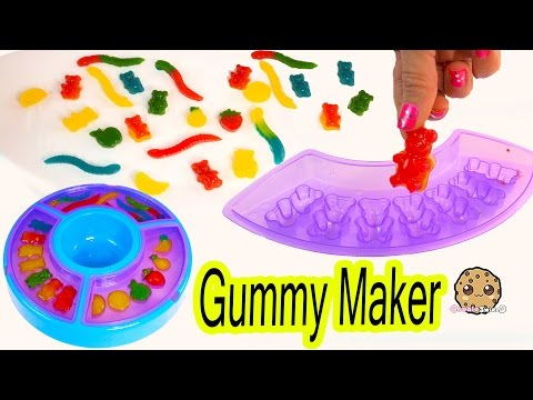 Gummy Factory Create Gummi Bears Sweet N Sour Candy Worms Fruit Snacks Kit Unboxing Video