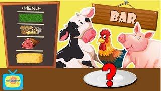 Co jedzą wiejskie zwierzęta? - Zwierzęta dla dzieci - Odgłosy zwierząt - Farma