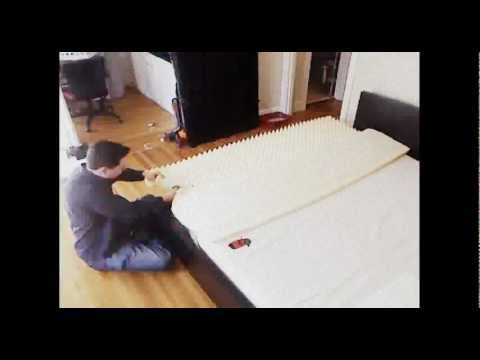 how to put together a queen bed frame video 1