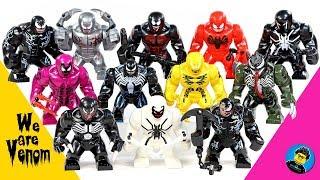 New Venom Riot Anti-Venom Phage Agent Venom Toxin Agony Hyper-Venom Unofficial LEGO Big Figures