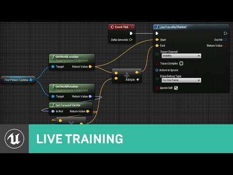 Blueprint Line & Shape Traces | Live Training | Unreal Engine
