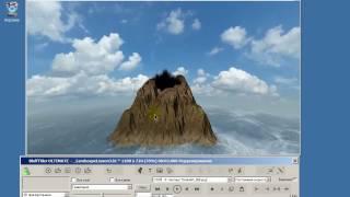 Урок 46 Вулкан на острове в BluffTitler v13