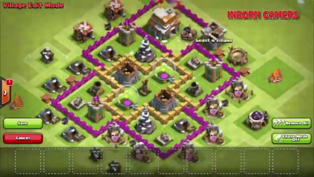 Clash Of Clans Town Hall 6 Defense (COC TH 6) With Best ...