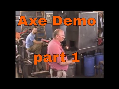 2014 Axe forging demonstration - Rocky Mountain Blacksmithing conference - part 1