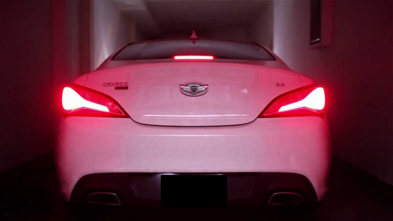 genesis coupe tail lights hyundai