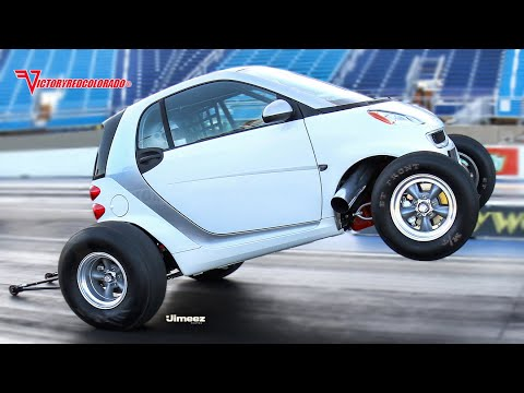 WILD 09 BIG BLOCK CHEVY POWERED SMART CAR AT RT66 4 26 14