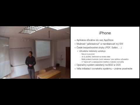 Juraj Bednár - Security aspects of mobile applications, iPho