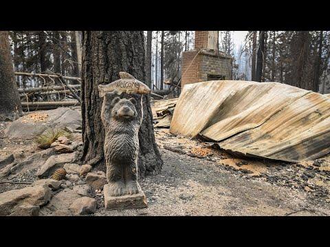 'Fire tornado' decimates homes and trees at Huntington Lake