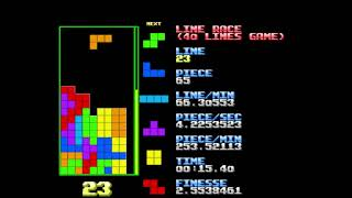 Tetris - 40 Lines in 23.50 Seconds [No Hold, No Ghost]