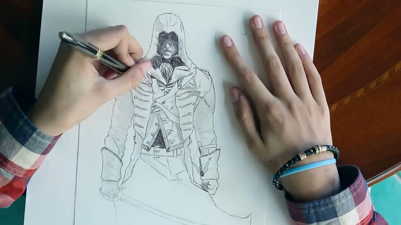 Assassin S Creed Unity Arno Dorian Speed Drawing Fan Art