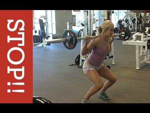 How to do a Squat and Lunge (PROPER FORM FOR WOMEN) - YouTube