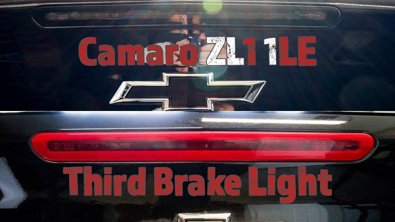 2017 6th Gen Camaro ZL1 1LE Third Brake Light Install And