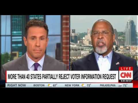 CNN Chris Cuomo tries to pin down Ken Blackwell over unproven Voter Fraud claims from Trump