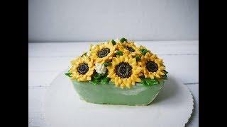 cách trang trí bánh kem -Blumen aus Buttercreme Anleitung