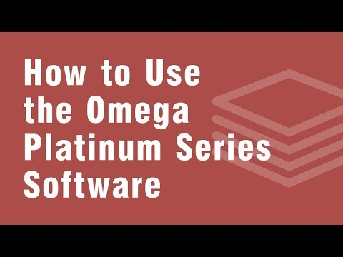 How to use the Omega Platinum Series Software