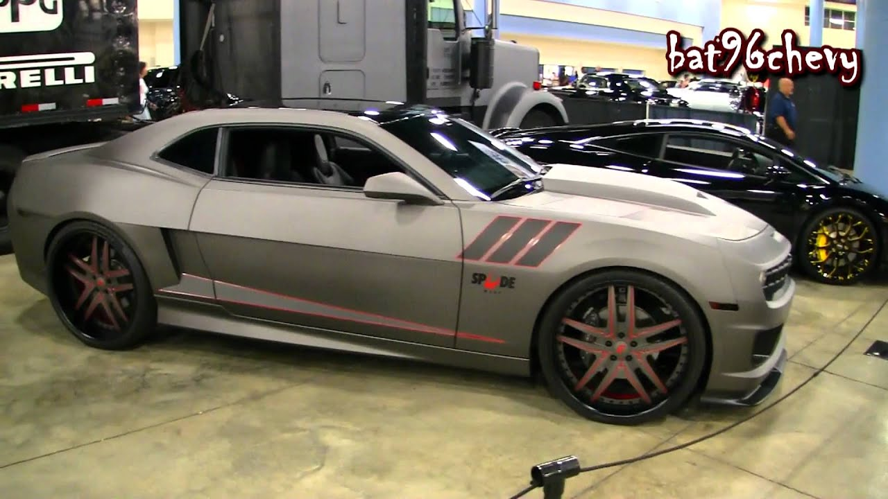 Flat Gray Camaro Ss On 24 Quot Forgiatos Wide Body Kit 1080p Hd Youtube