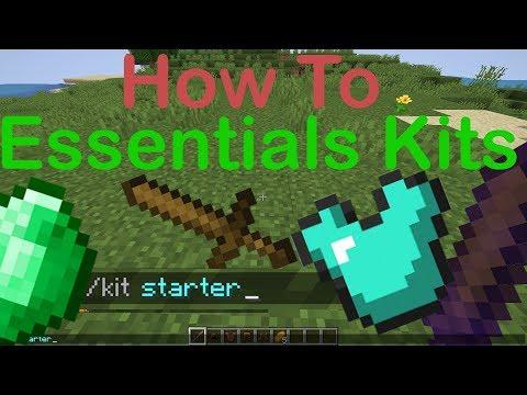 How To Essentials Kits - Minecraft Plugin Tutorial