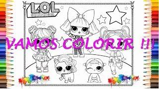 Livro Lol Para Pintar Colorindo As Bonecas Lol Surprise