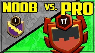 NOOB Vs. PRO - Clash of Clans Level 1 Clan faces Level 17 in WAR!