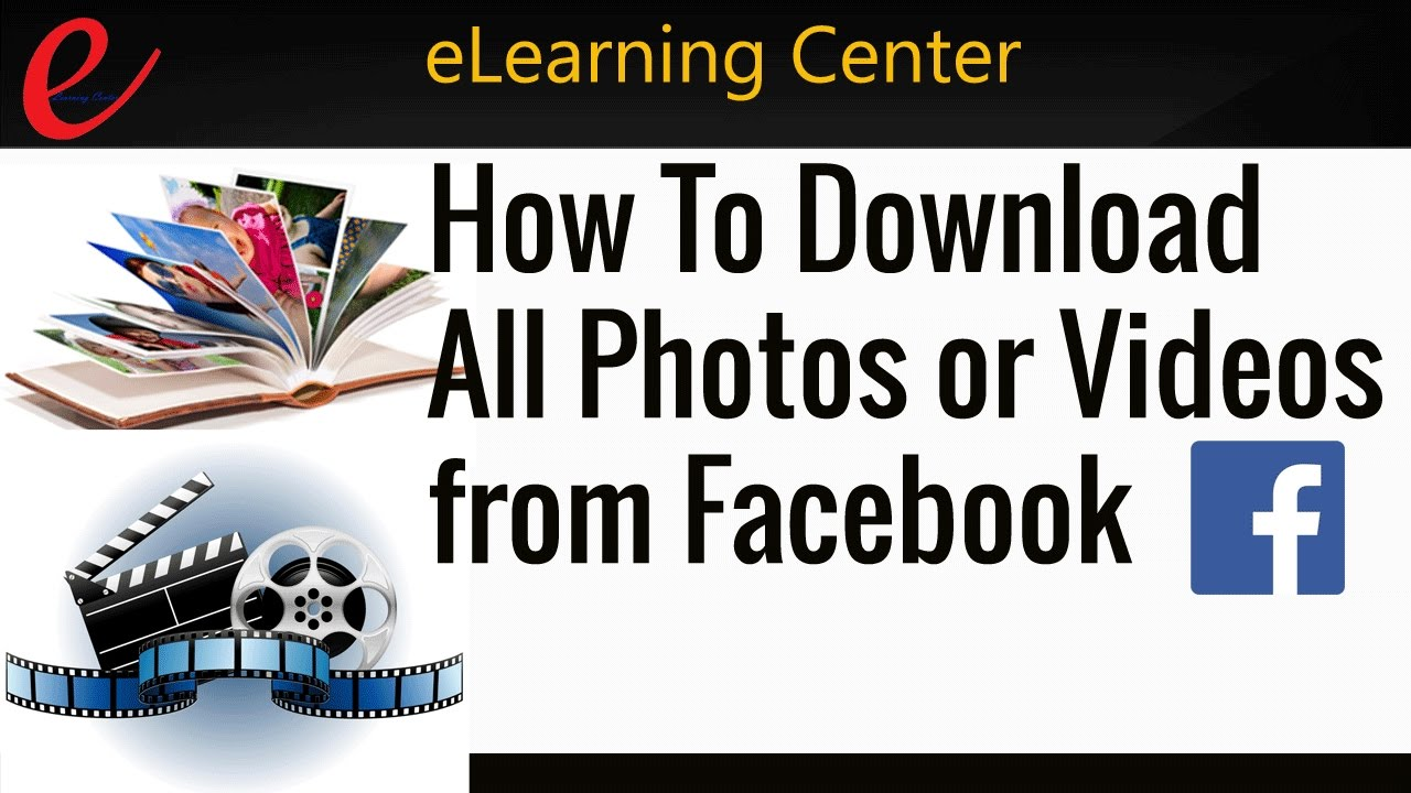 How To Download All Photos or Videos from Facebook Page or Friends Photo  Albums in one click